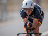 PIETERMARITZBURG, SOUTH AFRICA - AUGUST 29: Michael Teuber (GER) vom BSV München/Bayern [Paralympische Klassifikation: C1-Zweirad] at the Time Trial Race Track during the Prep-Phase of the UCI Para-Cycling Road World Championships 2017 on August 29, 2017 in Pietermaritzburg, South Africa.  (Photo by Oliver Kremer/Photo © 2017 Oliver Kremer | http://sports.pixolli.com)
